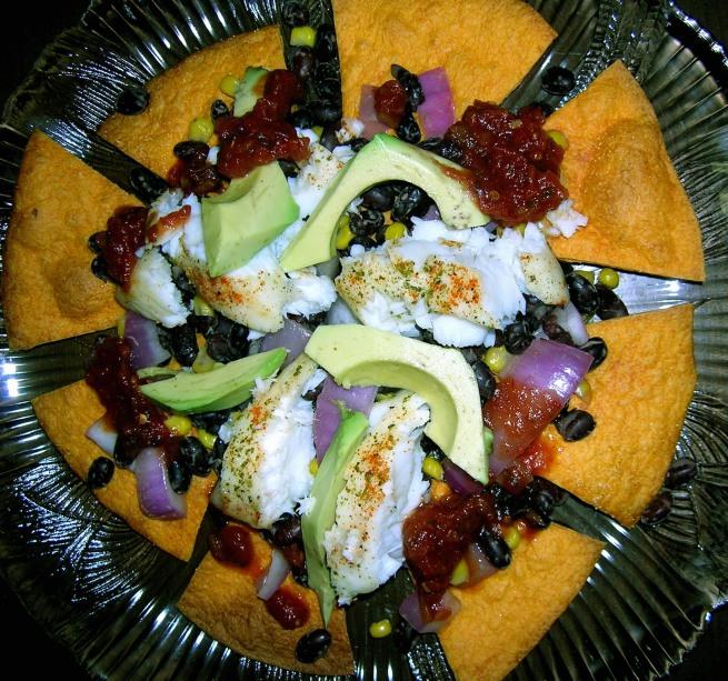 Tilapia taco salad