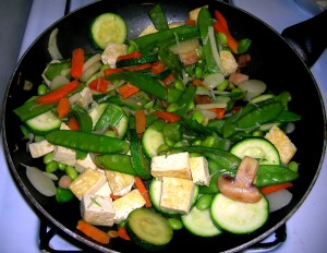 veggie stir frying