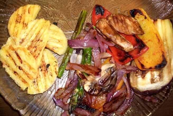 polenta and veggies