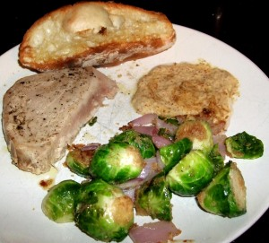 tuna and brussels
