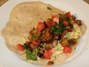 Lauren's breakfast tacos.